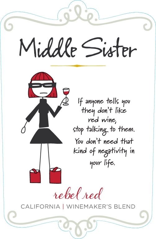 Middle Sister Rebel Red Red Table Wine - DOW