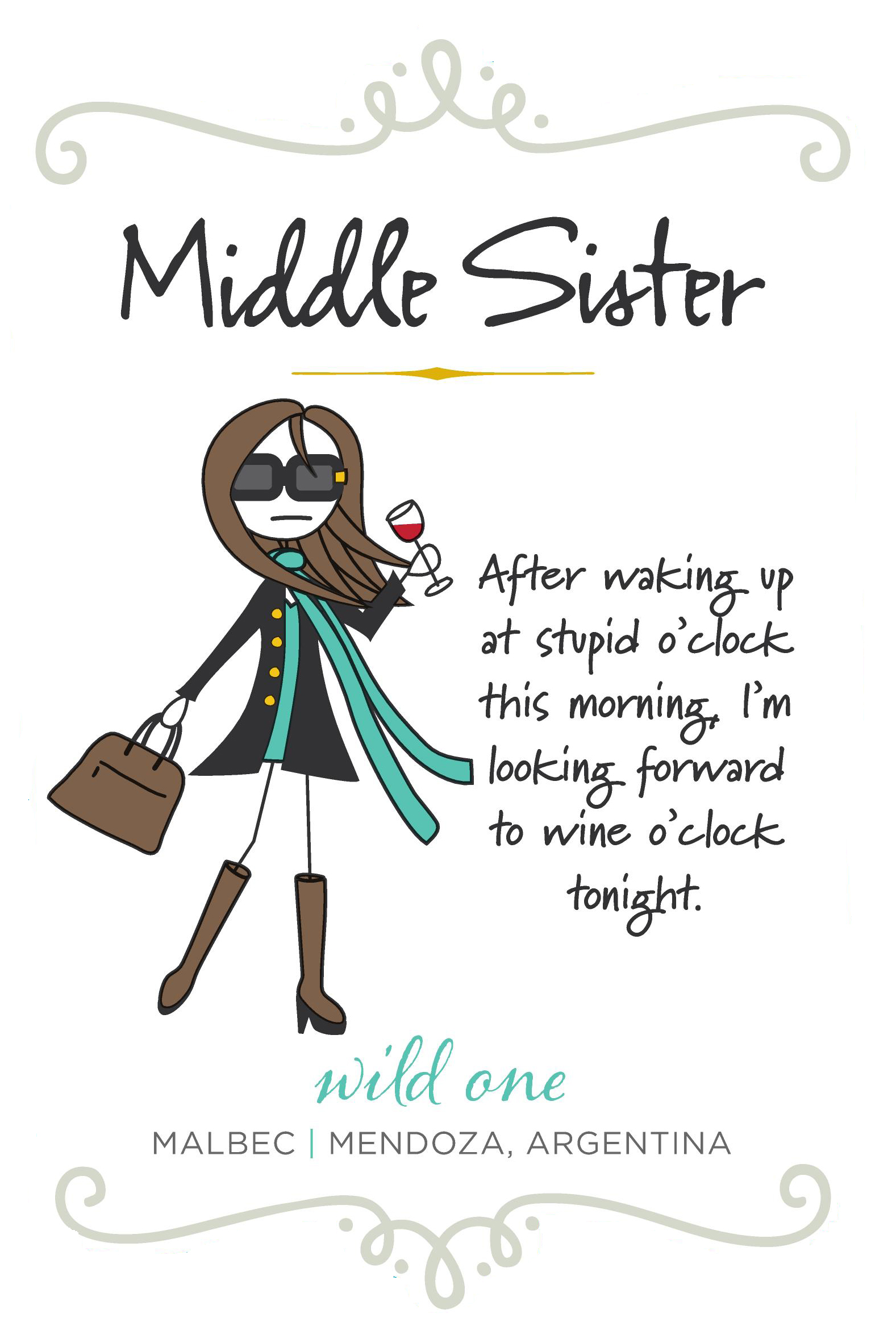 Wine Love Quotes Middle Sister Wines
