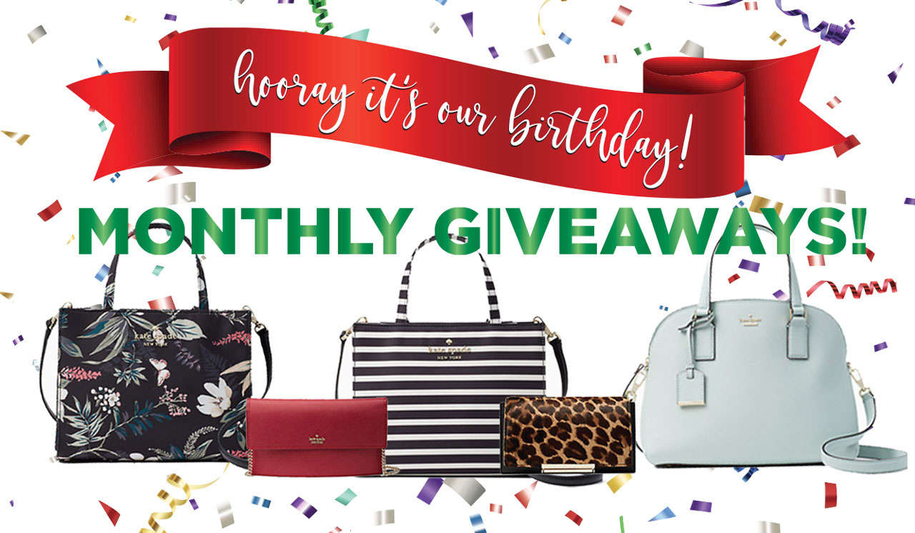 Hooray it's our birthday! Monthly Giveaways