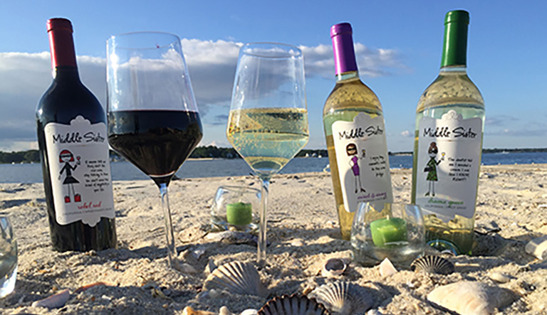 Middle Sister Wines at the Beach